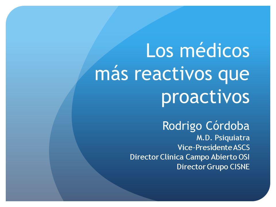 Los médicos más reactivos que proactivos