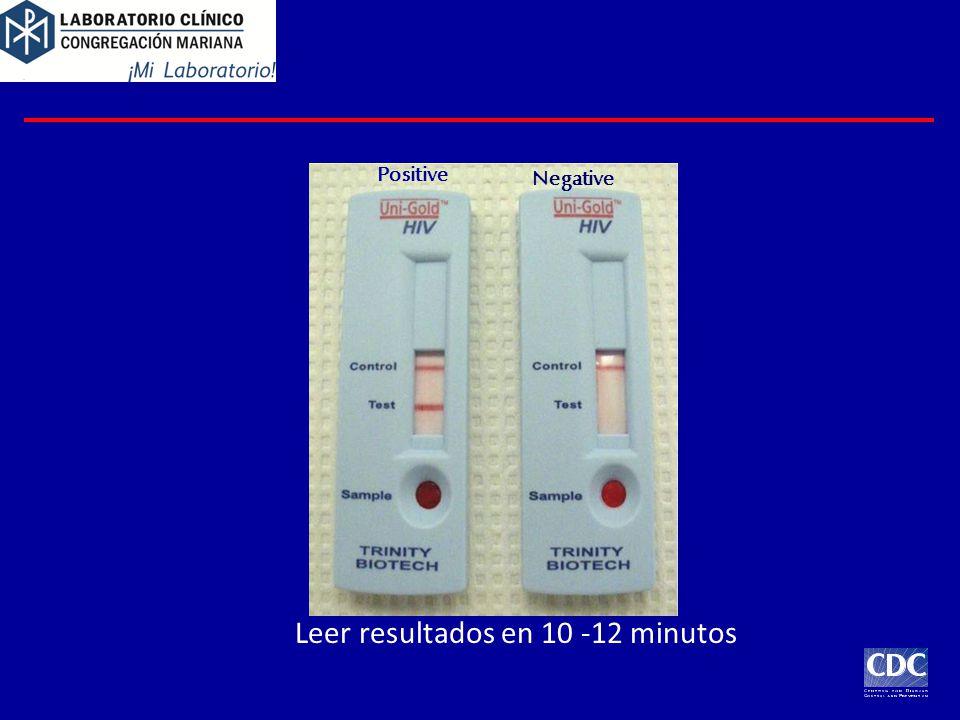 Leer resultados en 10 -12 minutos