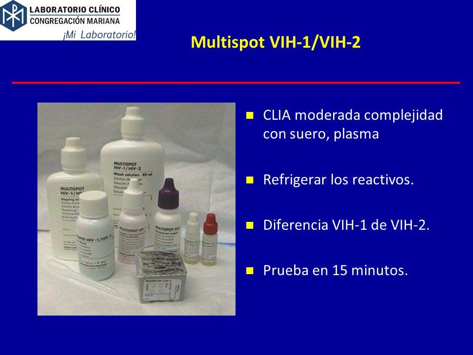 Multispot VIH-1/VIH-2 CLIA moderada complejidad con suero, plasma