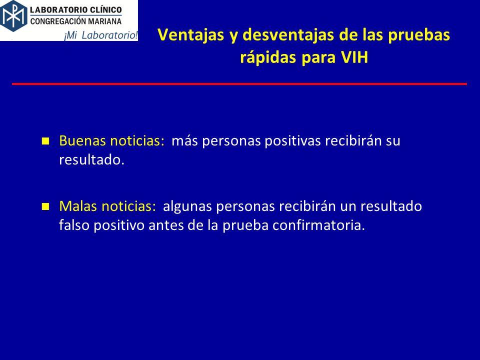 Ventajas y desventajas de las pruebas rápidas para VIH