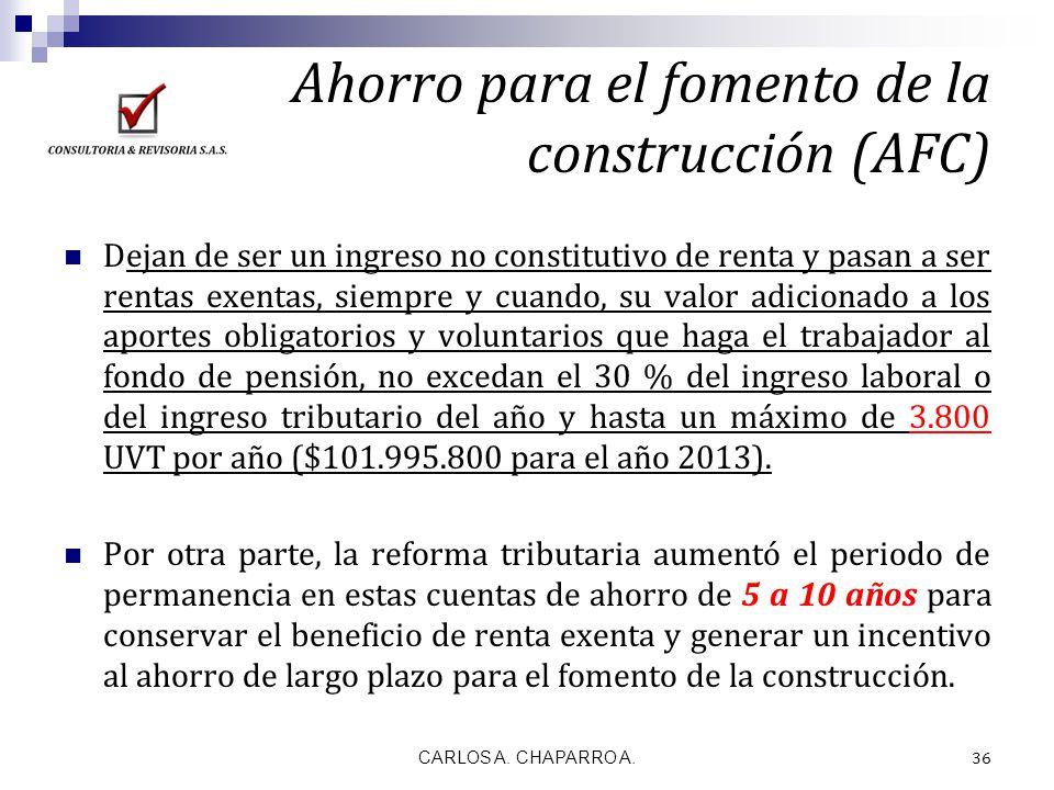 Ahorro para el fomento de la construcción (AFC)