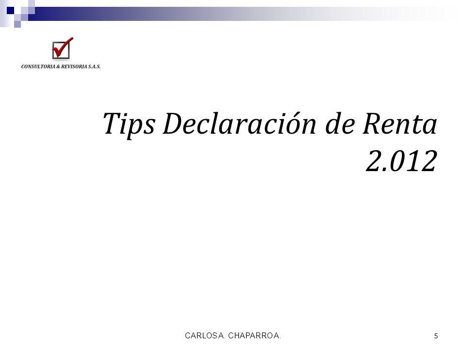 Tips Declaración de Renta 2.012
