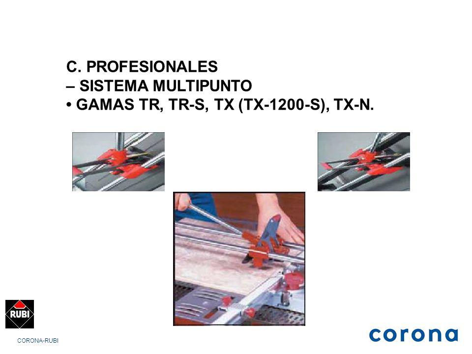 • GAMAS TR, TR-S, TX (TX-1200-S), TX-N.
