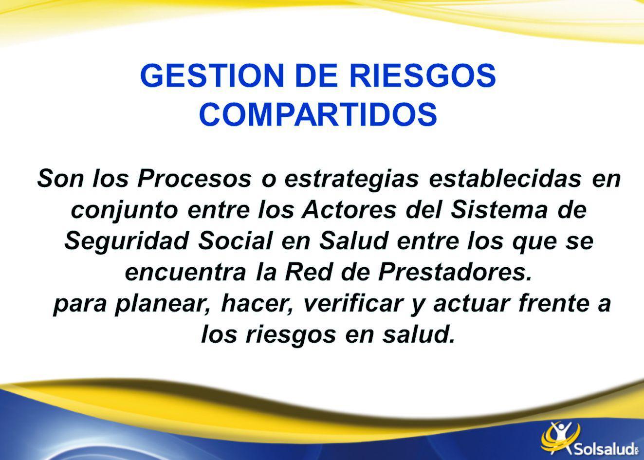 GESTION DE RIESGOS COMPARTIDOS