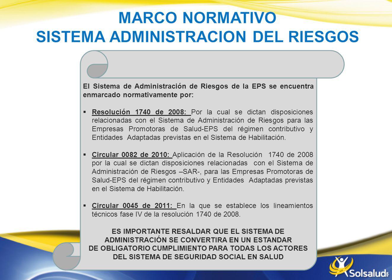 MARCO NORMATIVO SISTEMA ADMINISTRACION DEL RIESGOS