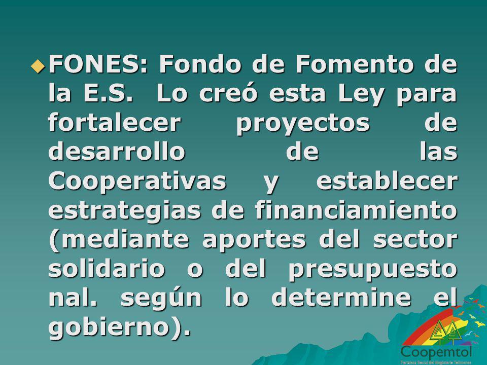 FONES: Fondo de Fomento de la E. S