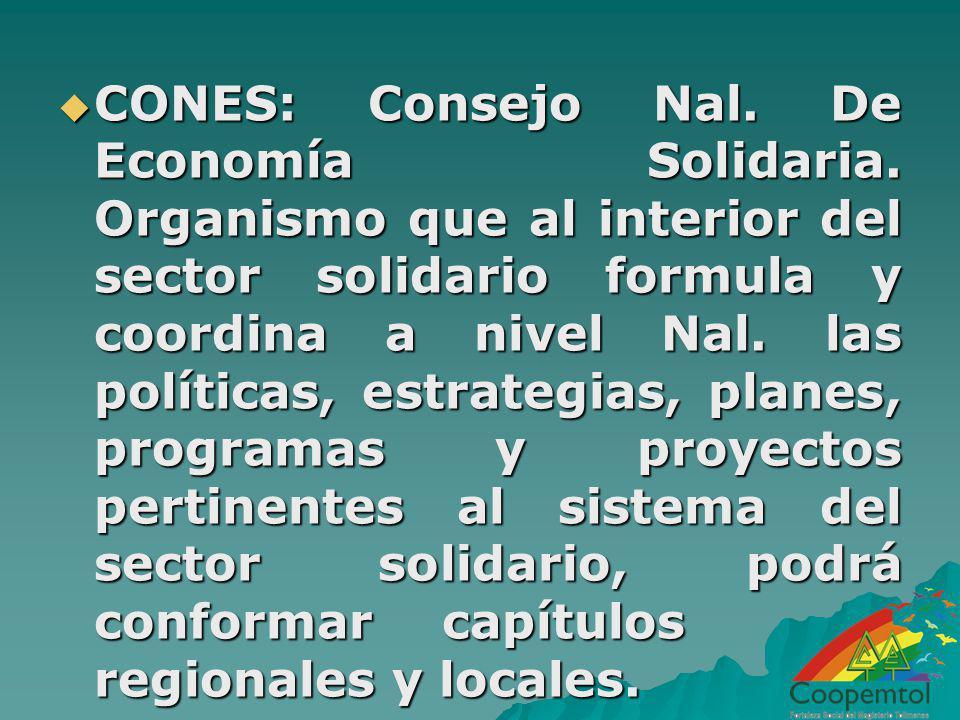 CONES: Consejo Nal. De Economía Solidaria