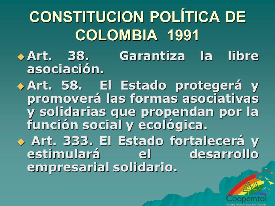 CONSTITUCION POLÍTICA DE COLOMBIA 1991