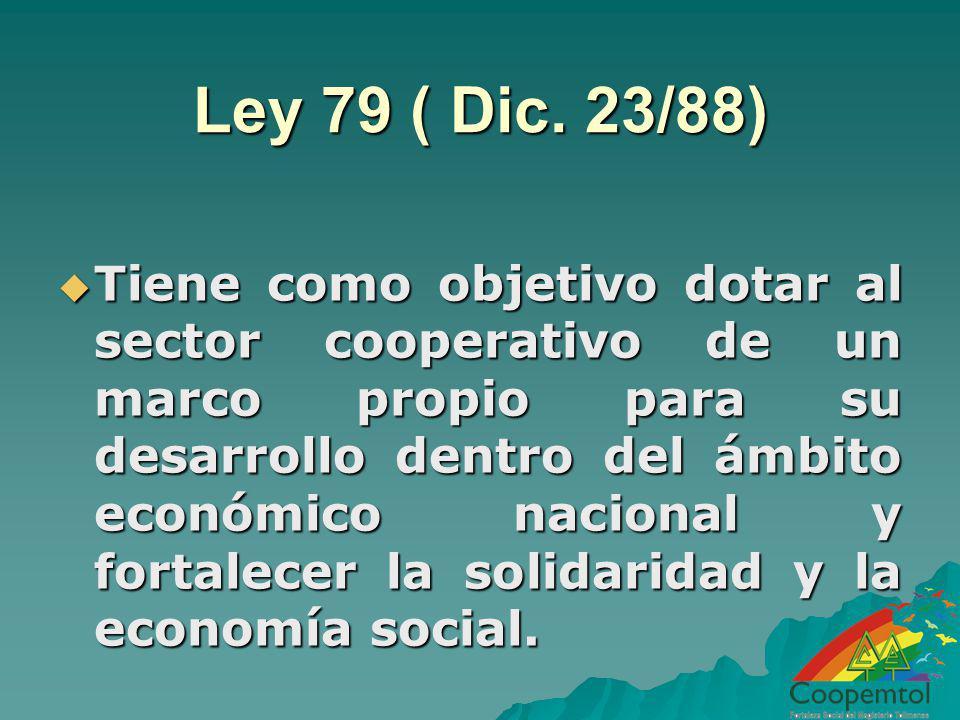 Ley 79 ( Dic. 23/88)