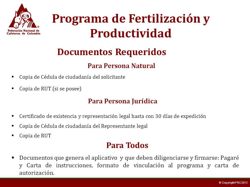 Programa de Fertilización y Productividad