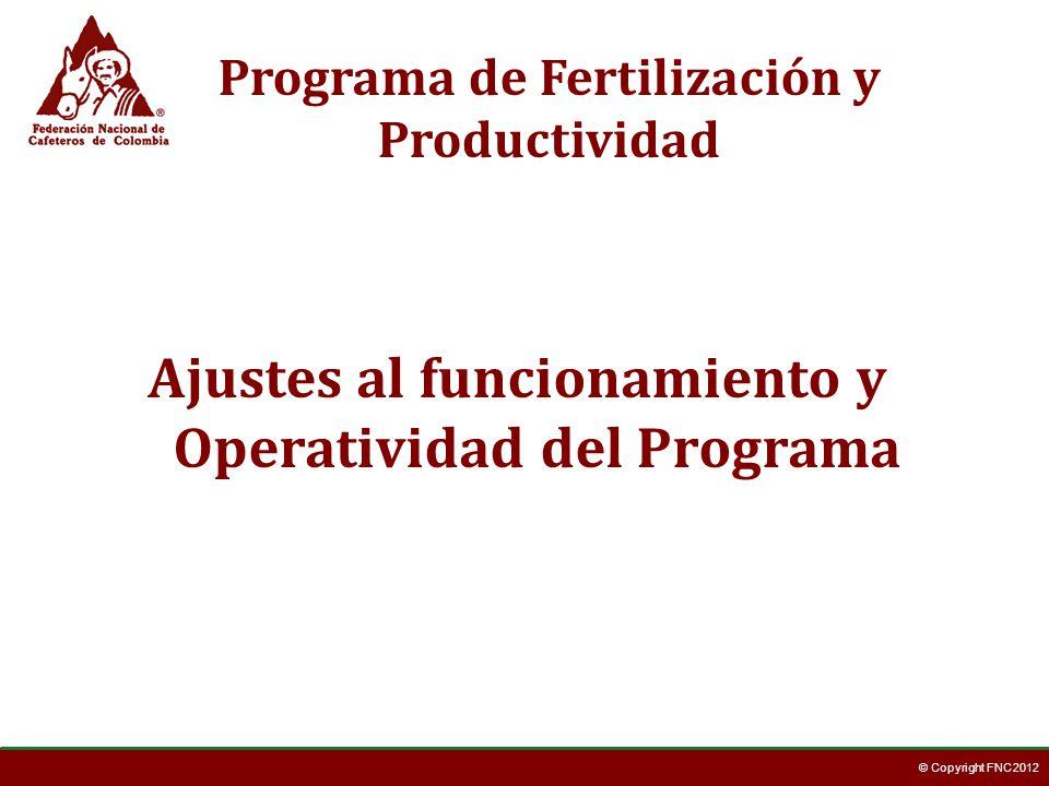 Ajustes al funcionamiento y Operatividad del Programa