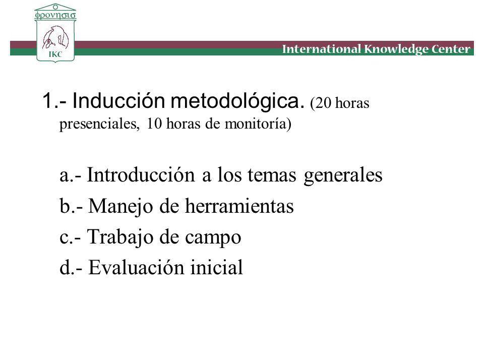 1. - Inducción metodológica
