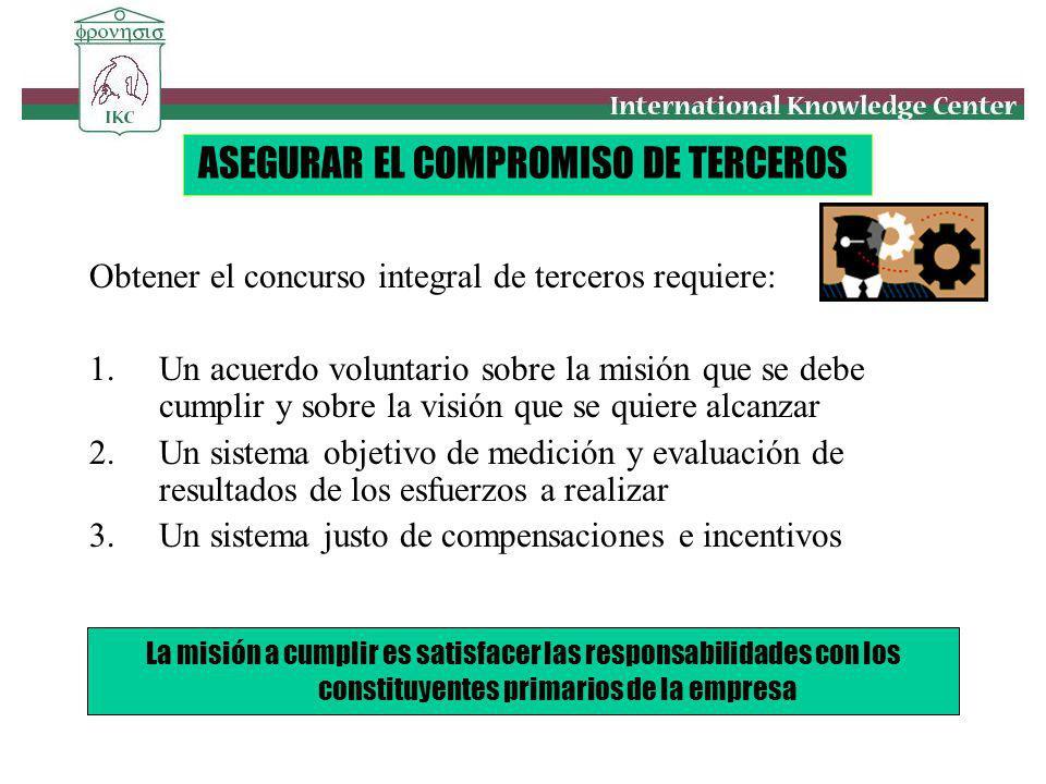 ASEGURAR EL COMPROMISO DE TERCEROS