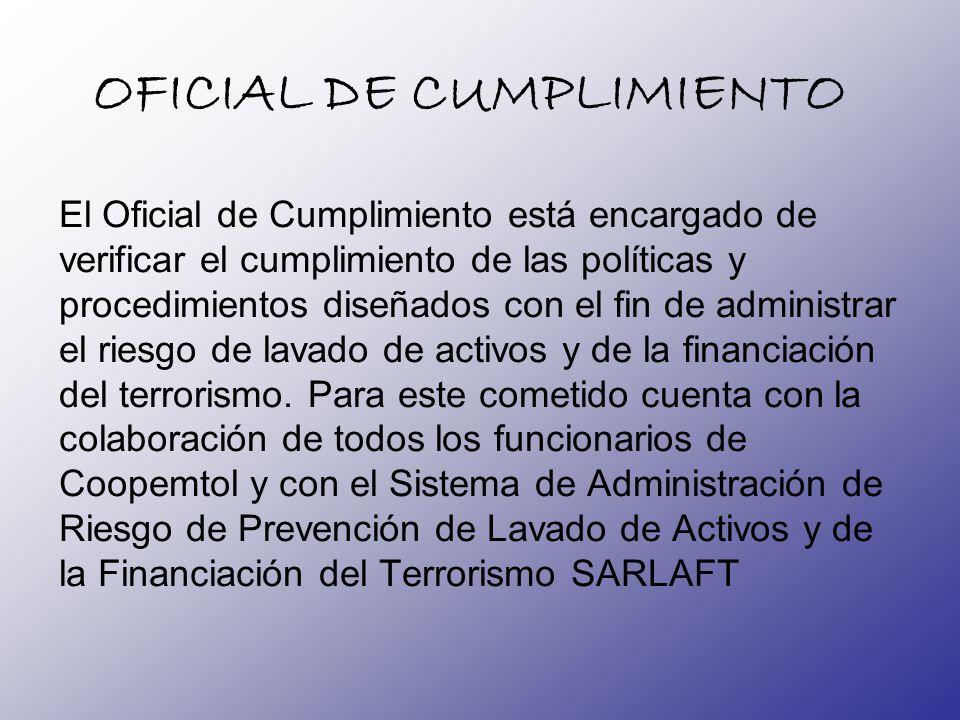OFICIAL DE CUMPLIMIENTO