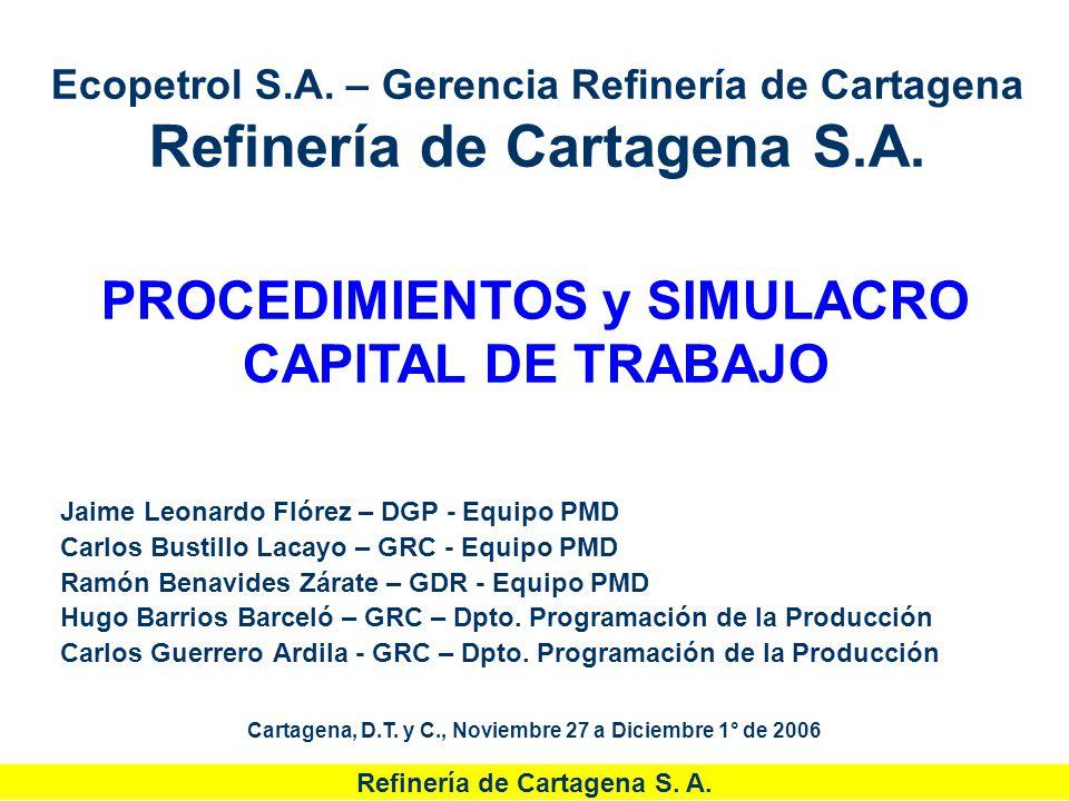 PROCEDIMIENTOS y SIMULACRO CAPITAL DE TRABAJO