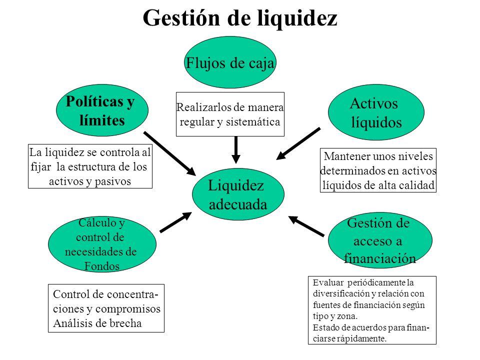 Gestión de liquidez Flujos de caja Políticas y Activos límites