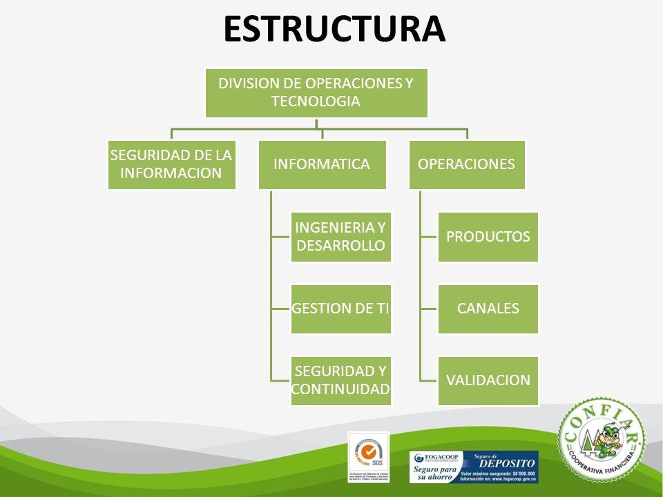 ESTRUCTURA DIVISION DE OPERACIONES Y TECNOLOGIA