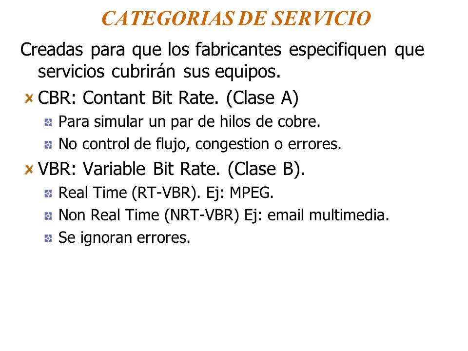 CATEGORIAS DE SERVICIO