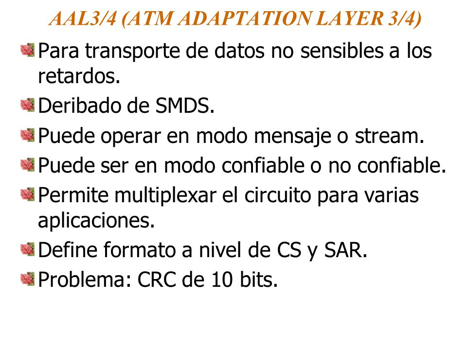AAL3/4 (ATM ADAPTATION LAYER 3/4)