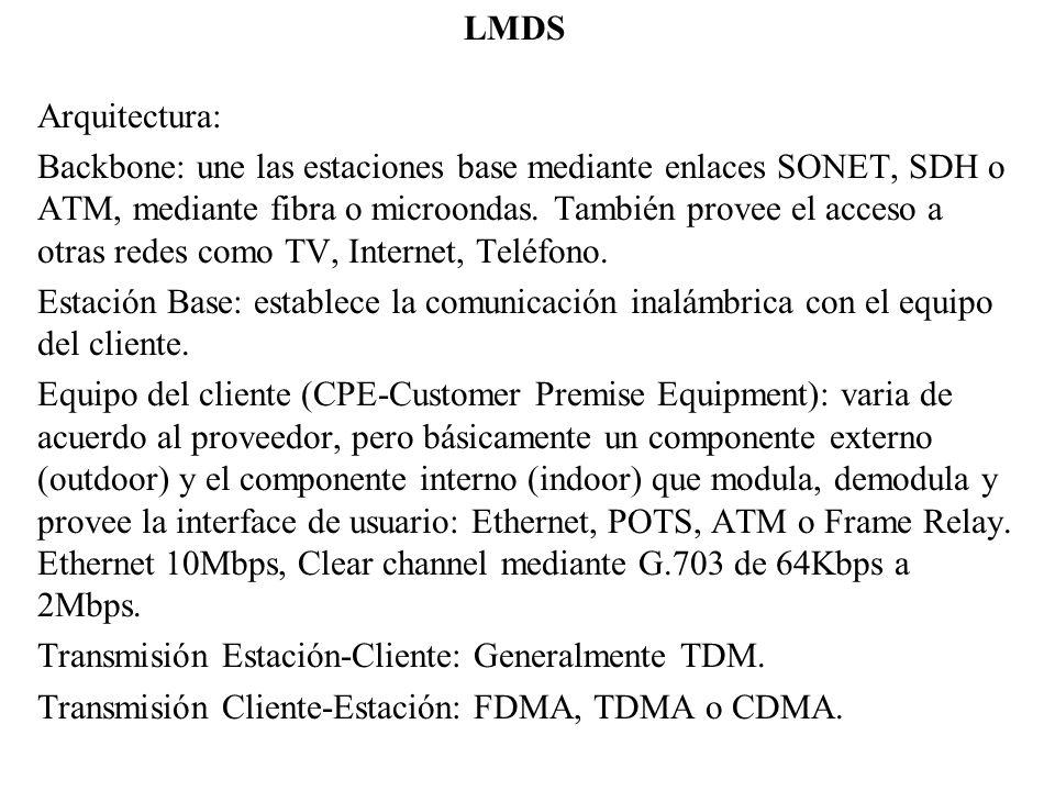 LMDS Arquitectura: