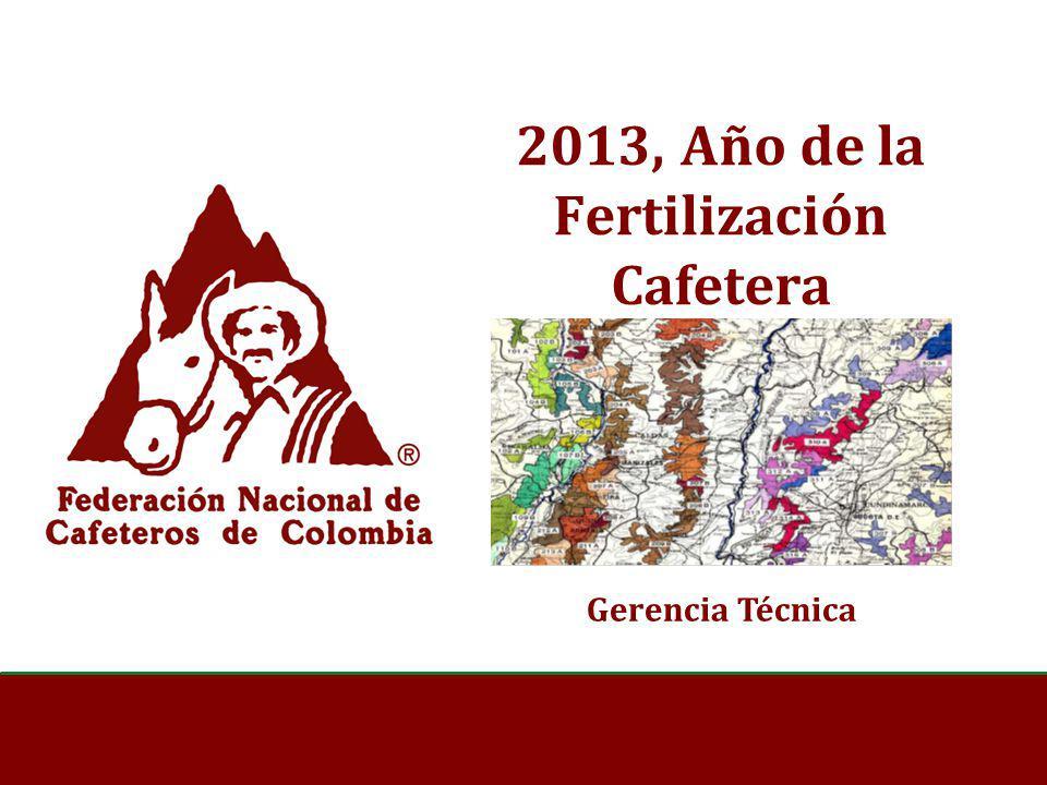 2013, Año de la Fertilización Cafetera