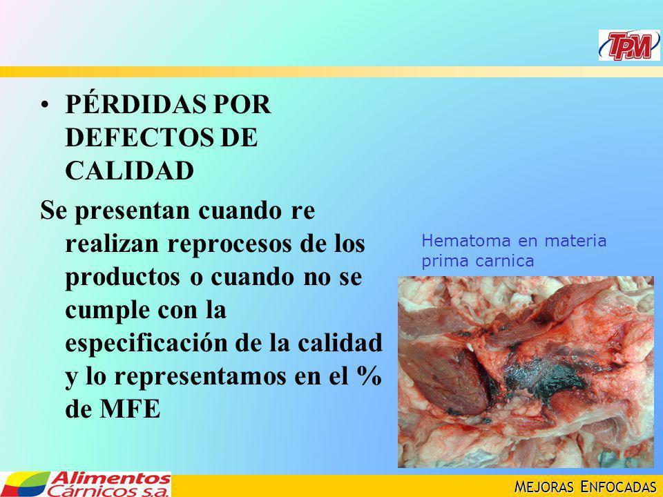 PÉRDIDAS POR DEFECTOS DE CALIDAD