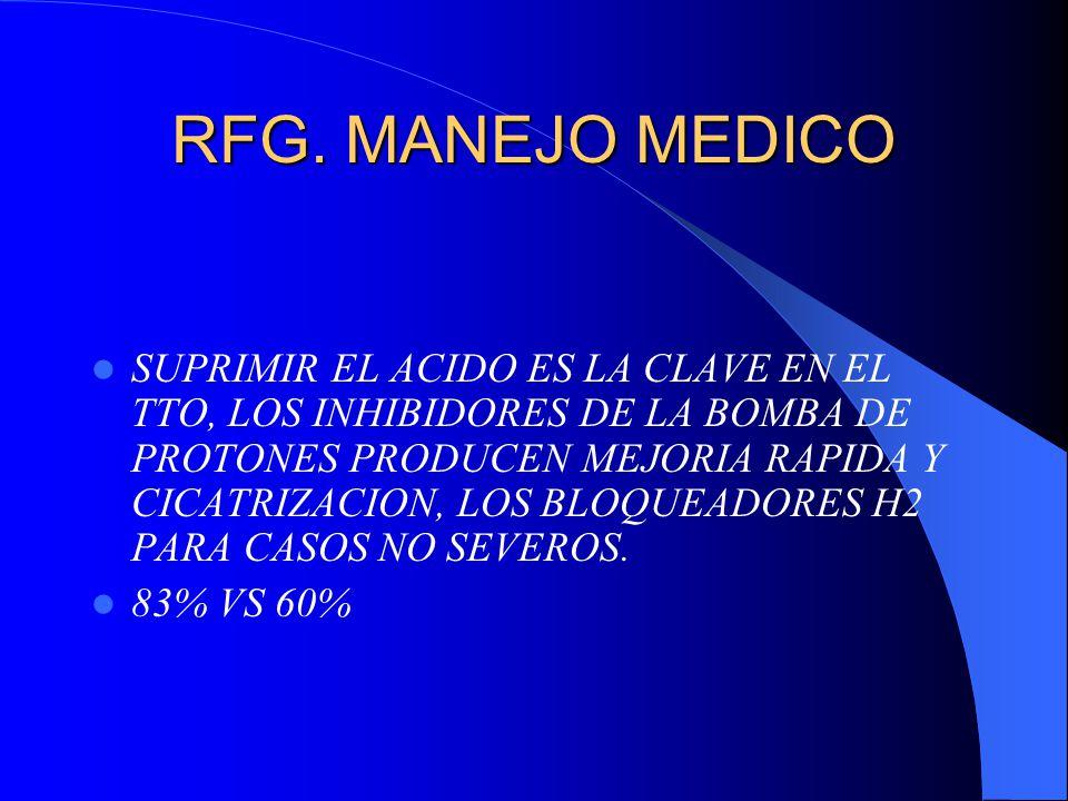 RFG. MANEJO MEDICO