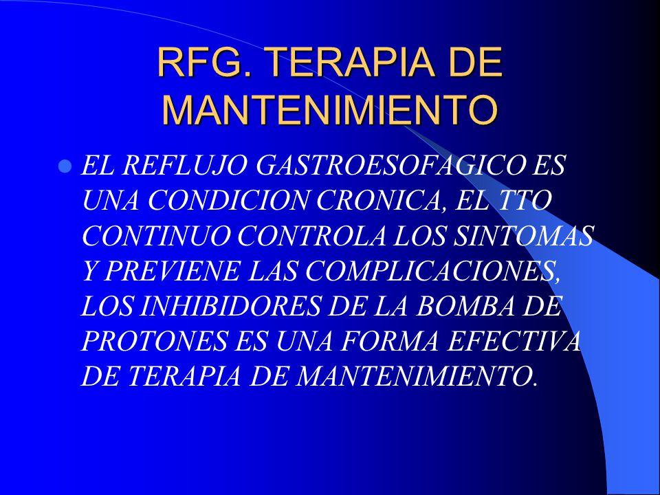 RFG. TERAPIA DE MANTENIMIENTO