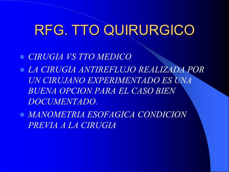 RFG. TTO QUIRURGICO CIRUGIA VS TTO MEDICO