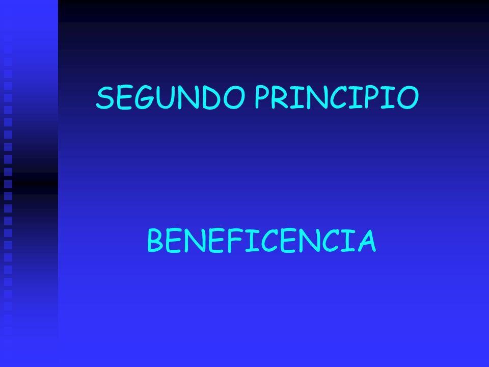 SEGUNDO PRINCIPIO BENEFICENCIA