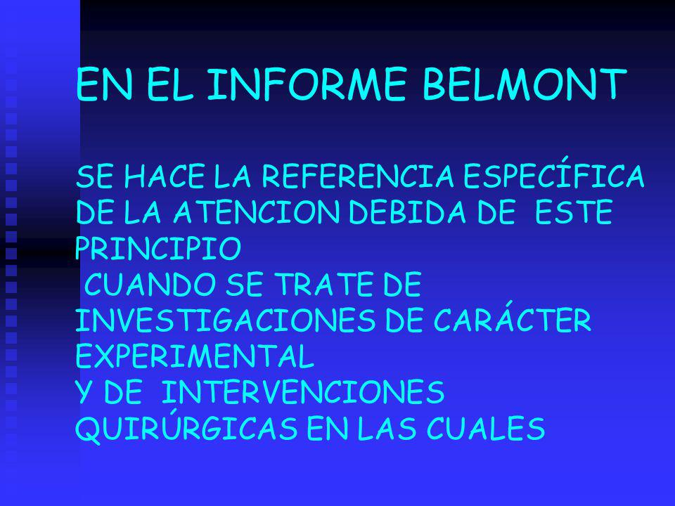 EN EL INFORME BELMONT