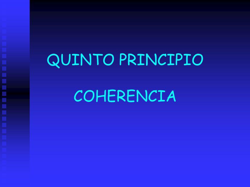 QUINTO PRINCIPIO COHERENCIA