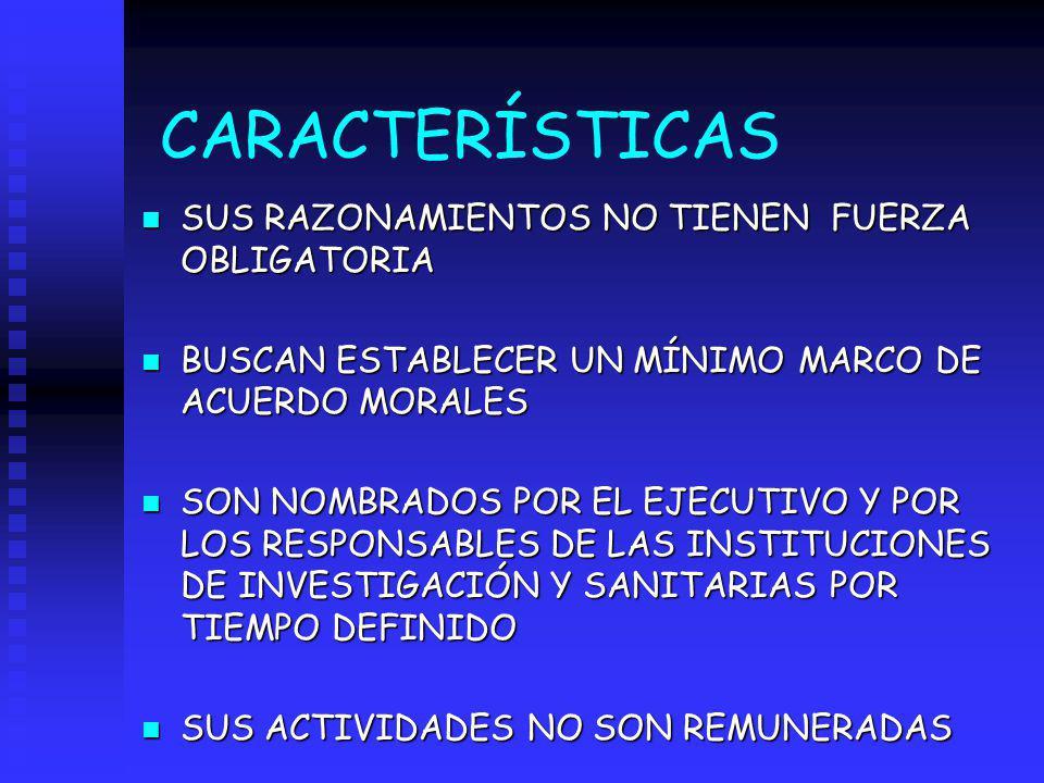 CARACTERÍSTICAS SUS RAZONAMIENTOS NO TIENEN FUERZA OBLIGATORIA