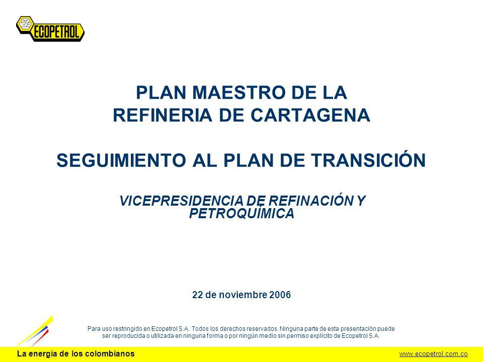 VICEPRESIDENCIA DE REFINACIÓN Y PETROQUÍMICA 22 de noviembre 2006