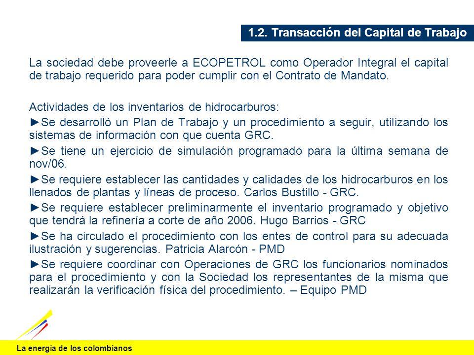 1.2. Transacción del Capital de Trabajo