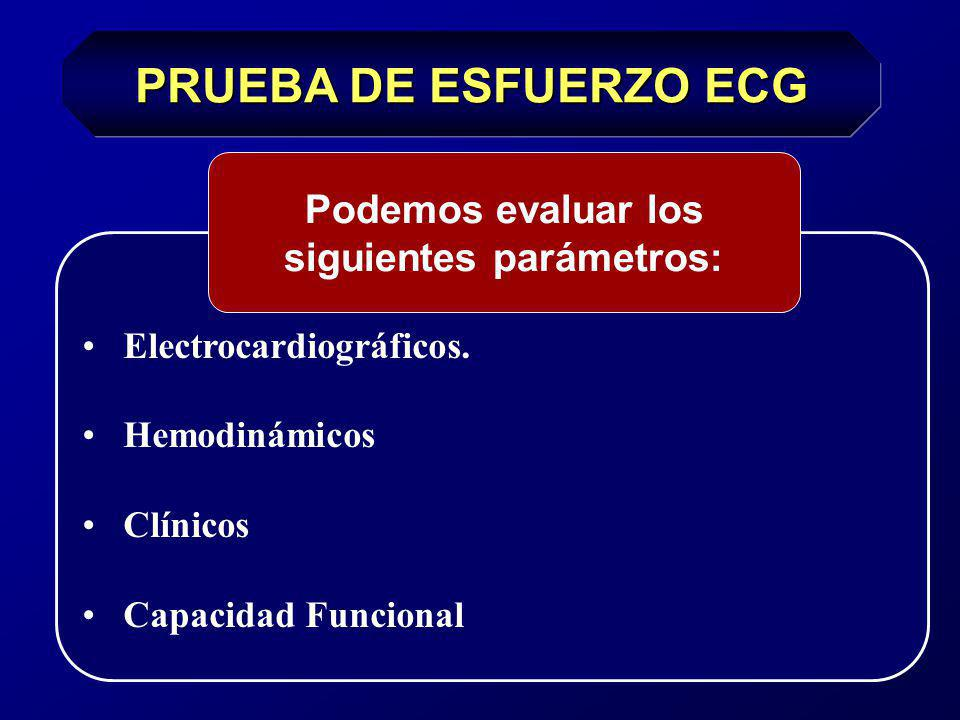 Podemos evaluar los siguientes parámetros: