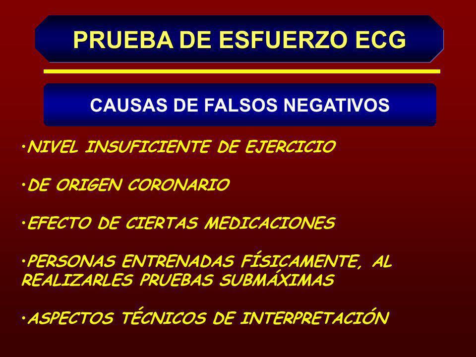 CAUSAS DE FALSOS NEGATIVOS