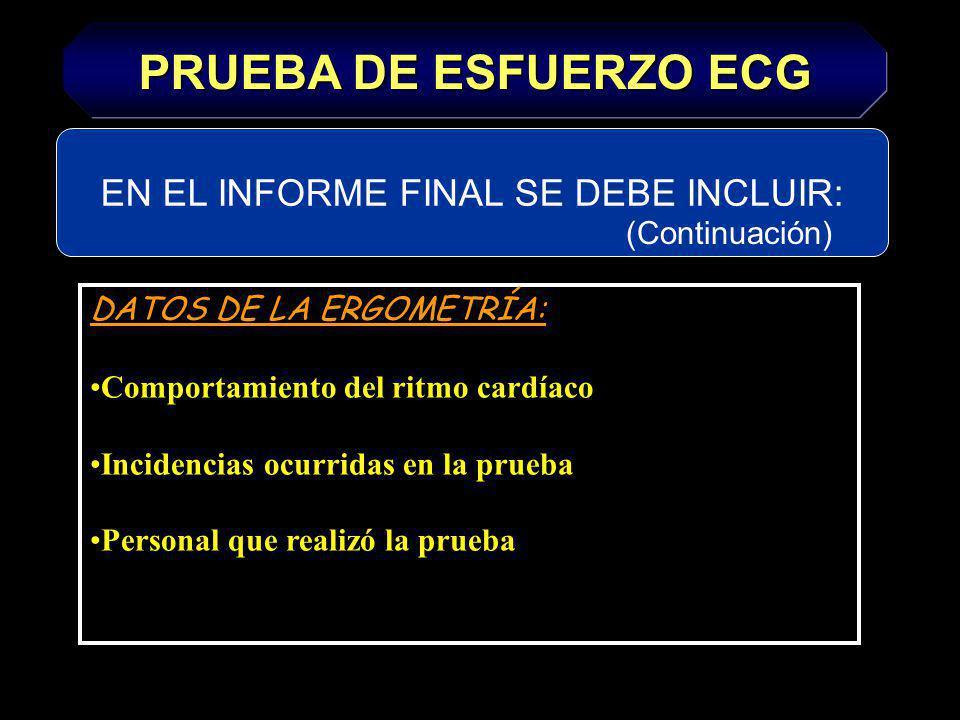 EN EL INFORME FINAL SE DEBE INCLUIR: