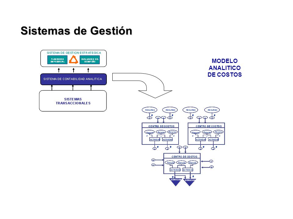 Sistemas de Gestión MODELO ANALITICO DE COSTOS