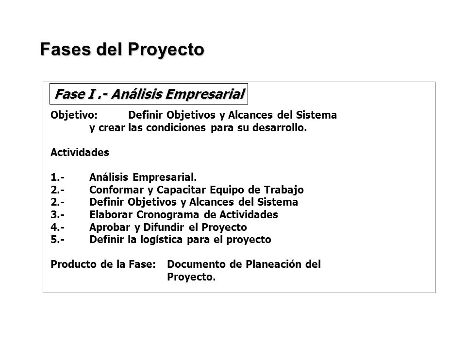 Fase I .- Análisis Empresarial