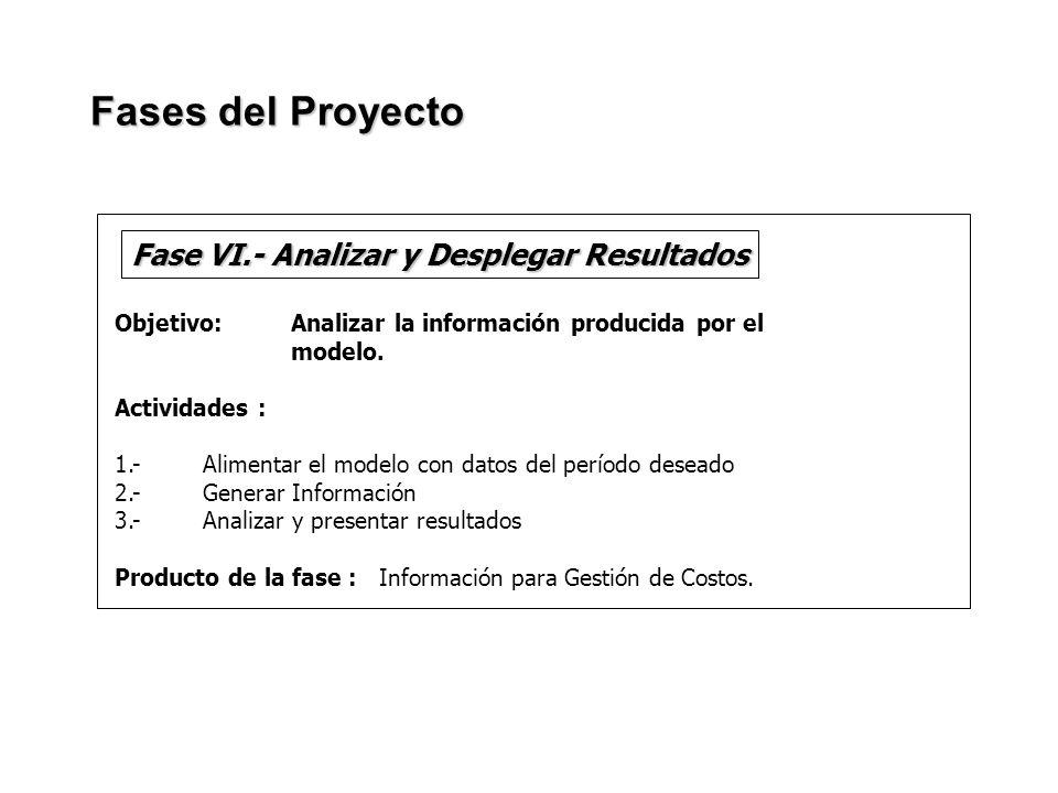 Fase VI.- Analizar y Desplegar Resultados