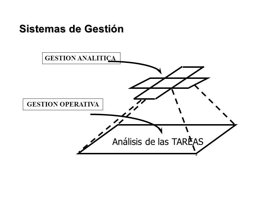 Sistemas de Gestión Análisis de las TAREAS GESTION ANALITICA