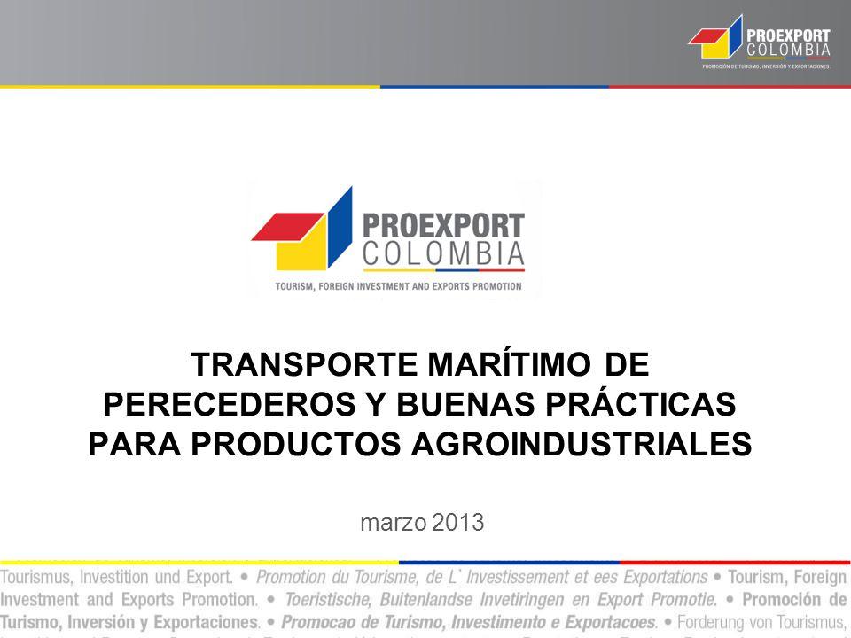 TRANSPORTE MARÍTIMO DE PERECEDEROS Y BUENAS PRÁCTICAS PARA PRODUCTOS AGROINDUSTRIALES
