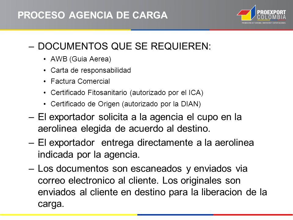 PROCESO AGENCIA DE CARGA