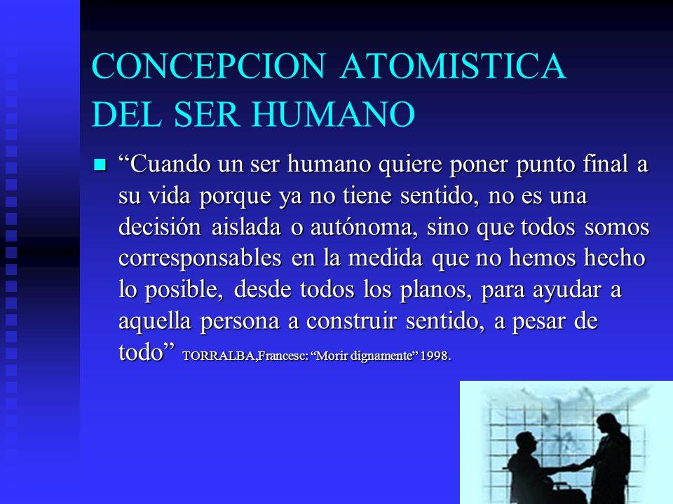 CONCEPCION ATOMISTICA DEL SER HUMANO
