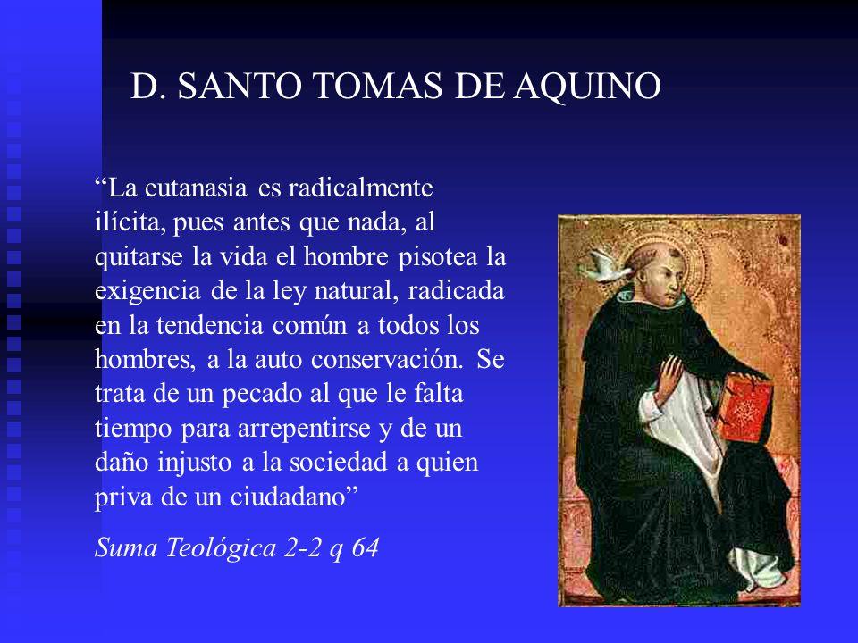 D. SANTO TOMAS DE AQUINO