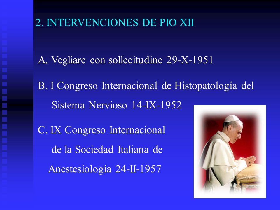 2. INTERVENCIONES DE PIO XII