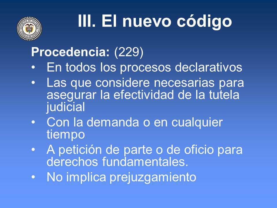 III. El nuevo código Procedencia: (229)