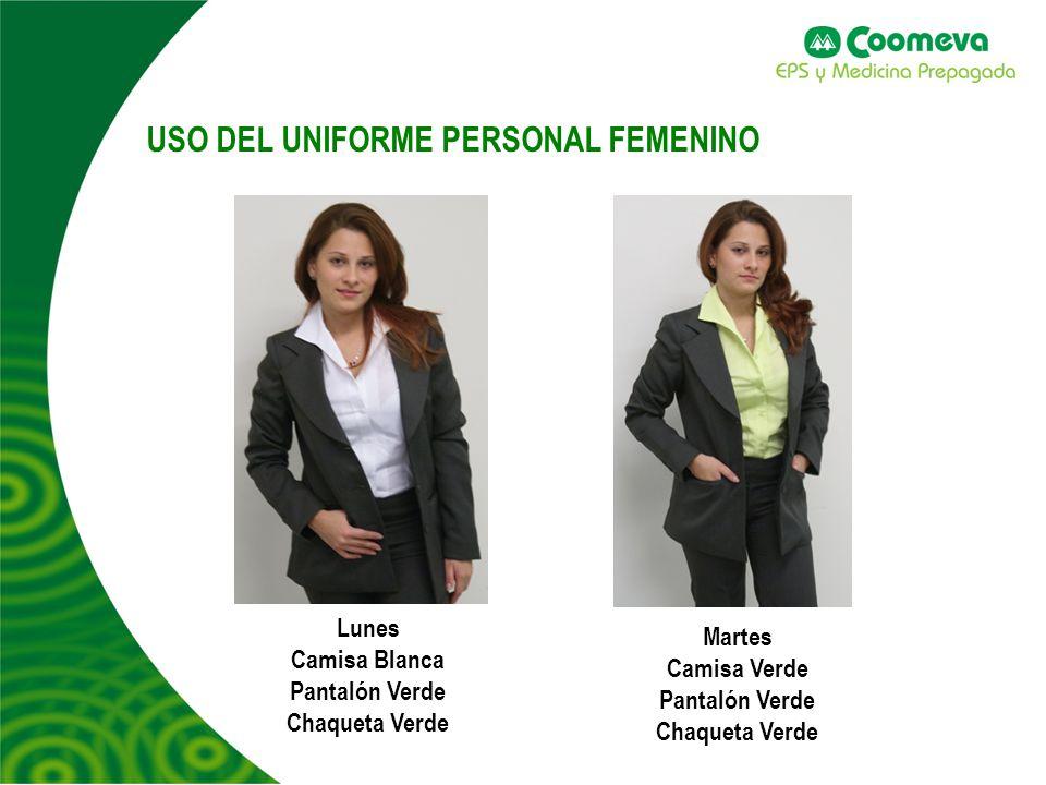 USO DEL UNIFORME PERSONAL FEMENINO