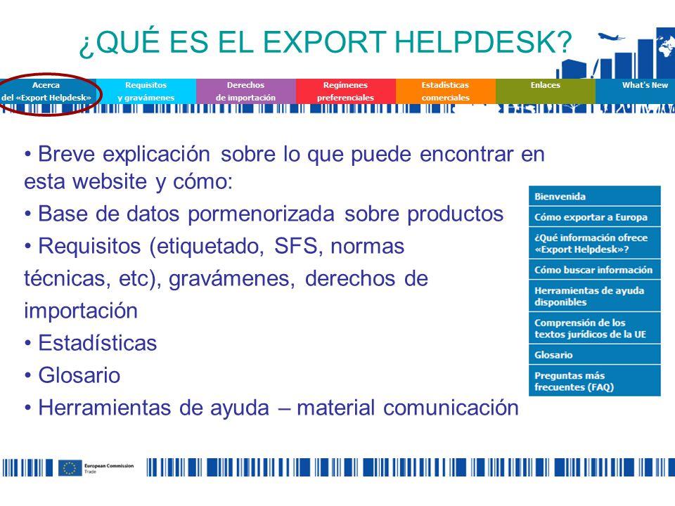 ¿QUÉ ES EL EXPORT HELPDESK